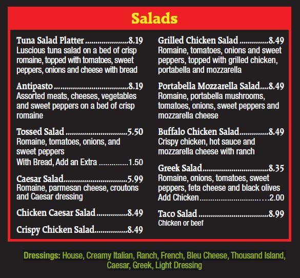Jo-Jos Pizza Hershey Salad